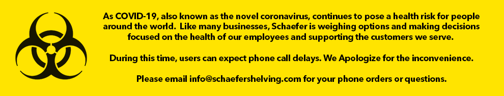 As COVID-19, also known as the novel coronavirus, continues to pose a health risk for people around the world. Like many businesses, Schaefer is weighing options and making decisions focused on the health of our employees and supporting the customers we serve.