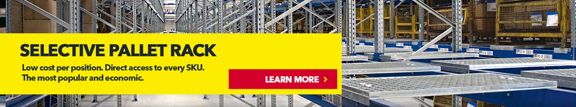 Schaefer R3000 Shelving Systems. Learn more about warehouse projects.