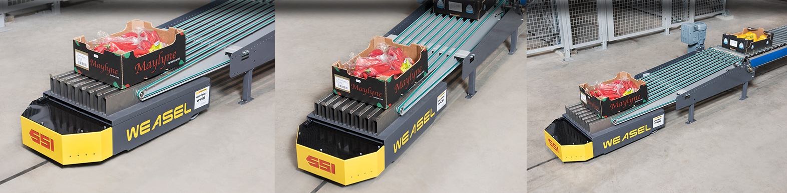 Warehouses with WEASEL® Automated Guided Vehicle. Quality WEASEL® Automated Guided Vehicle. SSI Schaefer. www.schaefershelving.com