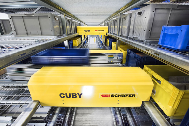 CUBY® Single-Level Shuttle System. Contact us! SSI Schaefer. www.schaefershelving.com