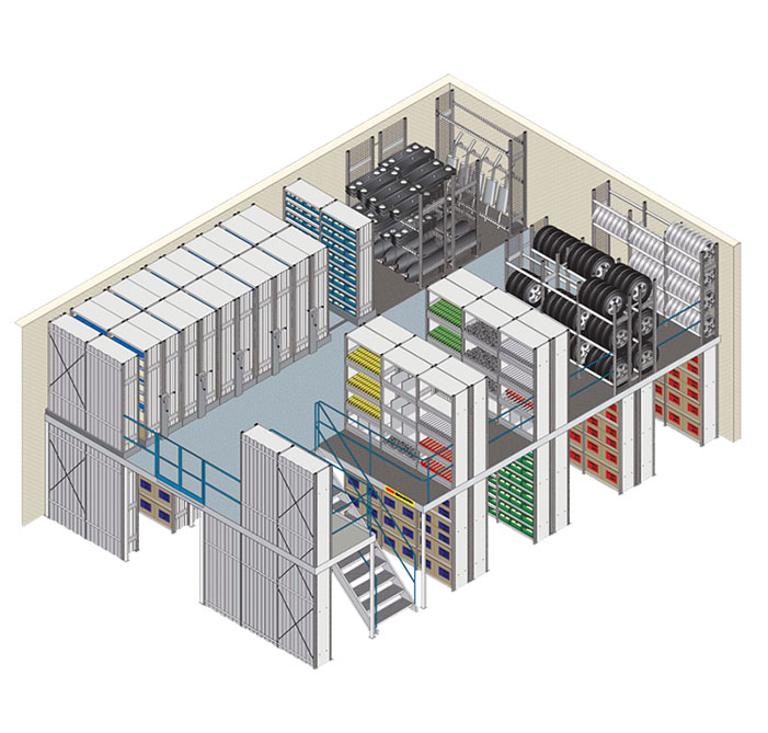 Multi-Level Mezzanine Systems. SSI Schaefer. www.schaefershelving.com