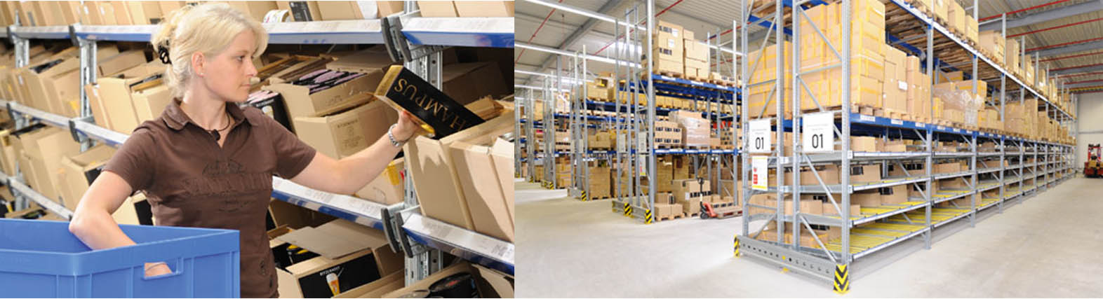 Warehouses with Carton Flow Shelving Systems. Quality Industrial Shelving. Made in USA. SSI Schaefer. www.schaefershelving.com