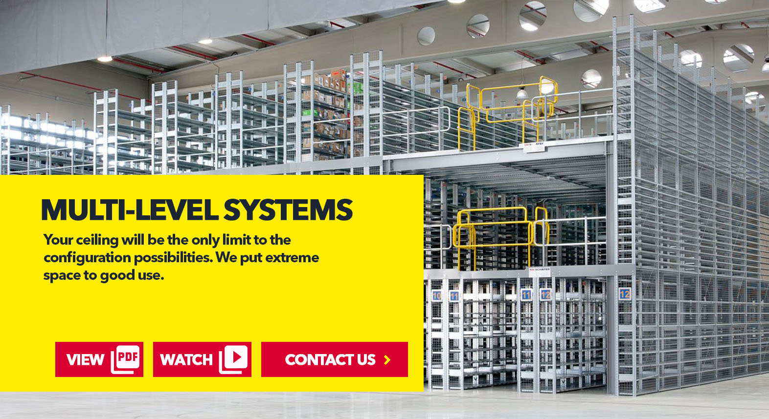 Multi-Level Shelving Systems by SSI Schaefer USA. Download PDF. Watch Video. Contact Us. www.chaefershelving.com
