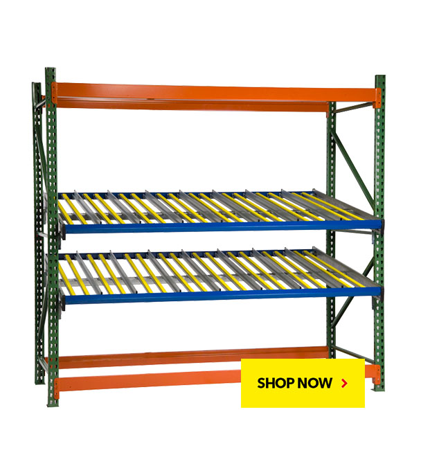 BUY NOW! KDR Gravity Flow Rack Levels for Pallet Racking. SSI Schaefer. Proudly made in USA.