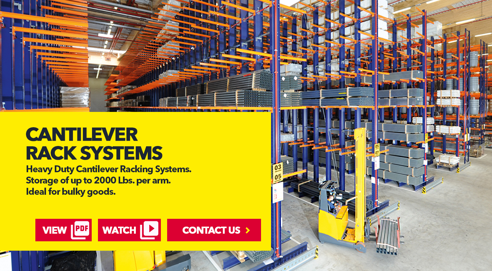 Cantilever Rack Systems by SSI Schaefer USA Download Guide, Watch Video, Contact Us. www.chaefershelving.com