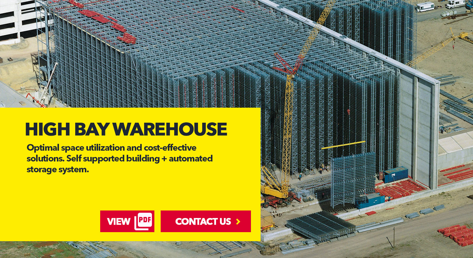Pallet High Bay Warehouse by SSI Schaefer USA Download Guide, Watch Video, Contact Us. www.chaefershelving.com