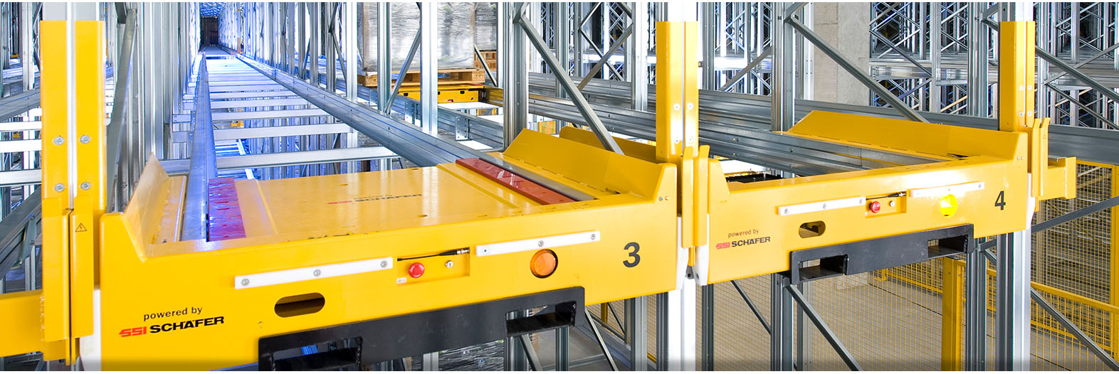 Warehouses with Orbiter Pallet Shuttle. Quality Orbiter Pallet Shuttle. SSI Schaefer. www.schaefershelving.com