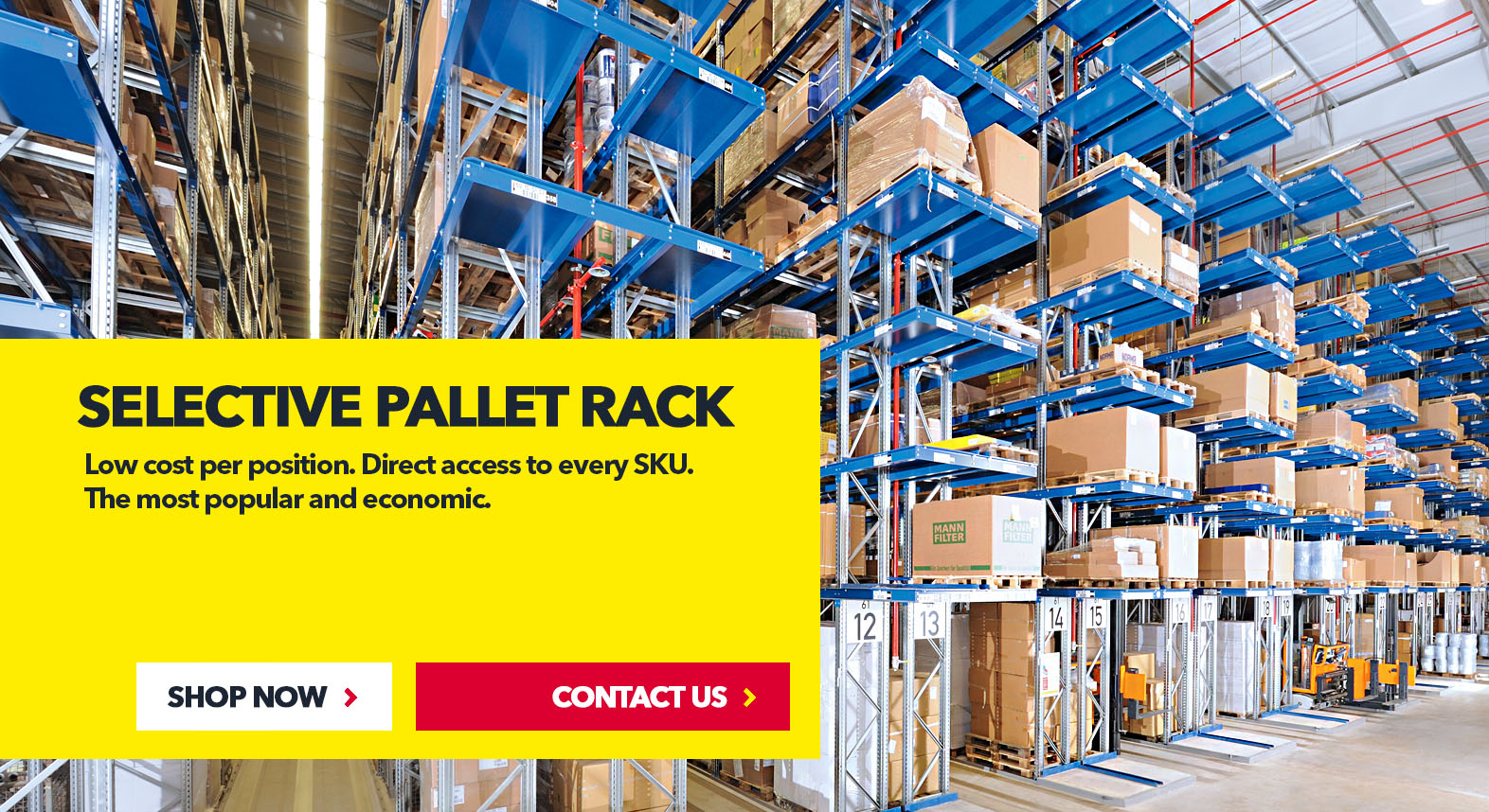Selective Pallet Rack by SSI Schaefer USA Download Guide, Watch Video, Contact Us. www.chaefershelving.com