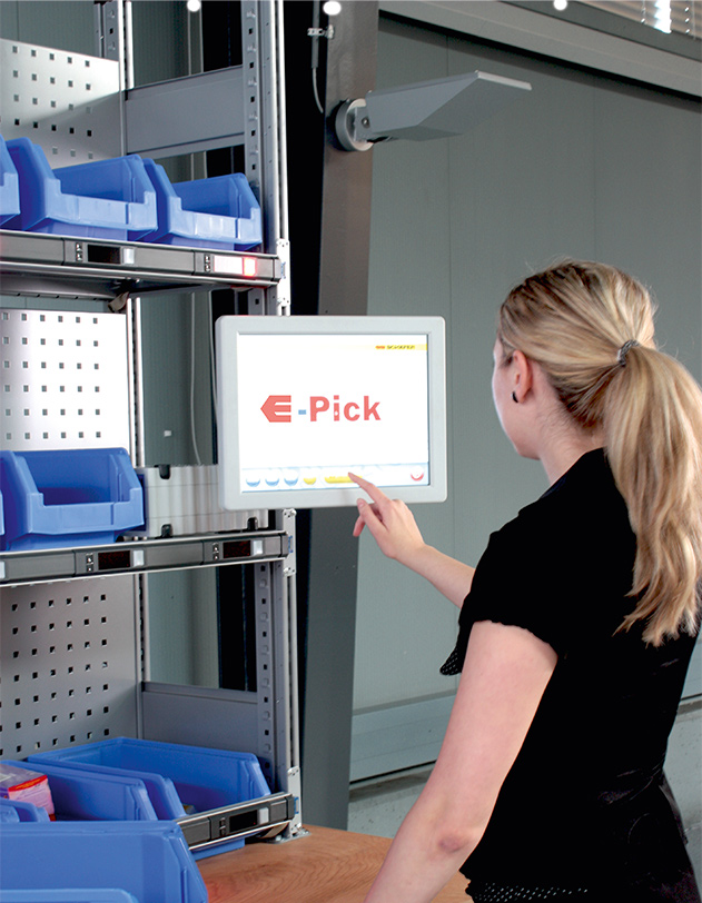 Picking ePick. Contact us! SSI Schaefer. www.schaefershelving.com