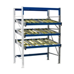 Schaefer KDR Gravity Flow Rack Shelving Add on Units for improved picking and storage efficiency, by SSI Schaefer