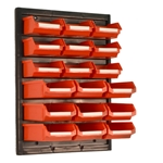Perma Fix Louvered Panel & Bin Kit in red color
