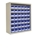 Safix Storage Bin Cabinets for organized storage of small parts on bins