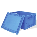Schaefer LTB Stackable Containers with hinged Lid for manual or automated applications, by SSI Schaefer