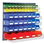 Wall Rail Bin System, by Schaefer Shelving