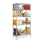 Chrome Wire Shelving Units for Medical, Pharmaceutical, Retail, Food applications, from SSI Schaefer