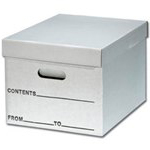 Letter/Legal File Storage Document Boxes, from SSI Schaefer