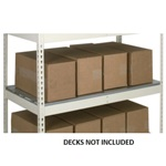 Light Duty Extra Shelves with No Decking for the storage of light loads, from SSI Schaefer