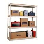 Light Duty Steel Shelving Units with Particle Board Decking for the storage of light loads, from SSI Schaefer