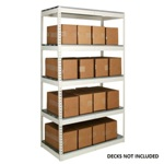 Light Duty Steel Shelving Units with no decking for the storage of light loads, from SSI Schaefer