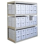 Record Storage Shelving Units with File Boxes for Letter/Legal Document storage, from SSI Schaefer