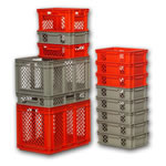 Euro-Fix Containers for food, industrial, distribution processes, by SSI Schaefer