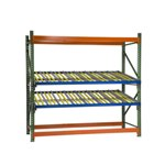 Schaefer KDR Gravity Flow Pallet Rack Levels for improved picking and storage efficiency, by SSI Schaefer