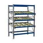 Schaefer KDR Gravity Flow Rack Shelving Starter Units for improved picking and storage efficiency, by SSI Schaefer