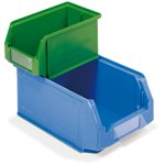 Schaefer Plastic Stackable Bin Label Holders for quick part identification, by SSI Schaefer