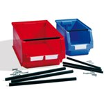 Schaefer Plastic Stackable Bin Support Bar for extra stacking capacity, by SSI Schaefer
