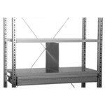 Schaefer Full Height Shelf Dividers to create partitions on shelves, by SSI Schaefer
