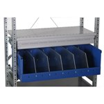 Schaefer Storage Trays to create partitions on shelves, by SSI Schaefer