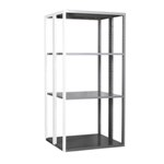Schaefer R4000 Extra Heavy Duty Shelving Add on Aisle Units with accessories like drawers, panels, dividers, doors, by SSI Schaefer