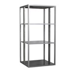 Schaefer R4000 Extra Heavy Duty Shelving Starter Aisle Units with accessories like drawers, panels, dividers, doors, by SSI Schaefer