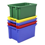 Stack & nest Containers to save significant costs in storage and returns, by SSI Schaefer
