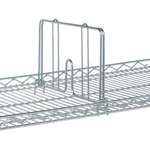 Wire Shelving Dividers to create partitions on the shelves, from SSI Schaefer