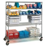 Wire Shelving Trucks for mobile requirements in Medical, Pharmaceutical, Food applications, from SSI Schaefer
