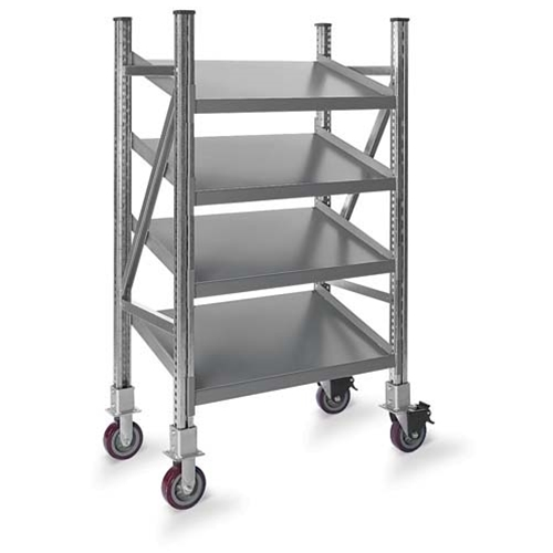 Schaefer Mobile Tilted Shelf On Line Shelving for all your assembly line picking and storage needs, by SSI Schaefer