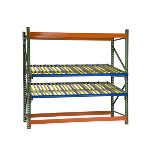 KDR Gravity Flow Rack Levels for Pallet Rack Shelving for improved picking and storage efficiency, by SSI Schaefer