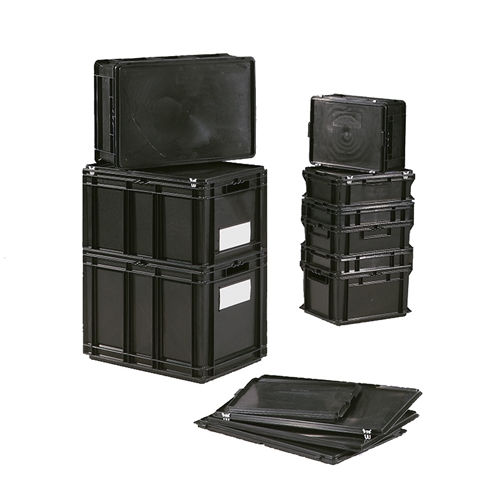 Schaefer Conductive Euro Fix Containers for the storage of electronic components, by SSI Schaefer