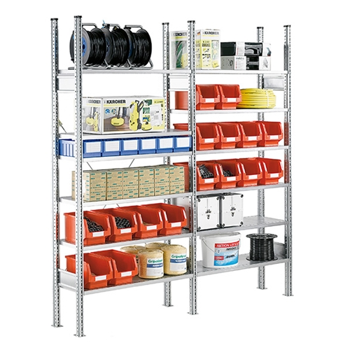 Industrial Shelving units like Pallet Rack, Bulk Rack, Automotive Parts and Multi-Tier installations by SSI Schaefer