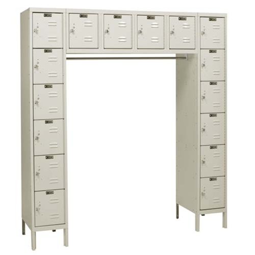 Door Steel Lockers with finger point handles for the storage of small personal items, from SSI Schaefer
