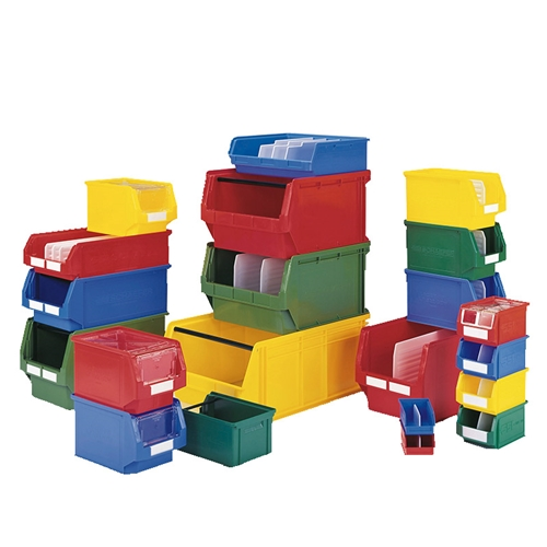 Plastic Stackable Bins for small parts storage, by SSI Schaefer