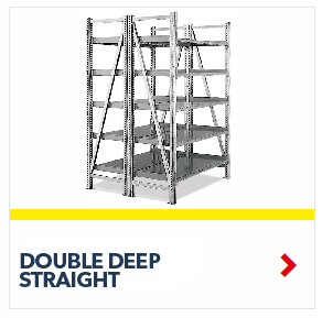 Double Deep Straight On-Line Gravity Shelving for all your assembly line picking and storage needs, by SSI Schaefer