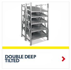 Schaefer Double Deep Tilted Starter On Line Shelving for all your assembly line picking and storage needs, by SSI Schaefer