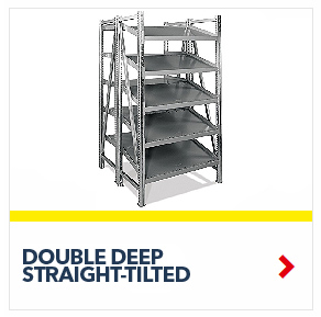 Schaefer Double Deep Straight Tilted Starter On Line Shelving for all your assembly line picking and storage needs, by SSI Schaefer