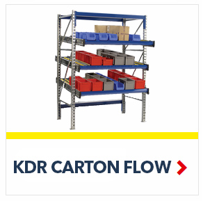 KDR Gravity Flow Rack Shelving for improved picking and storage efficiency, by SSI Schaefer