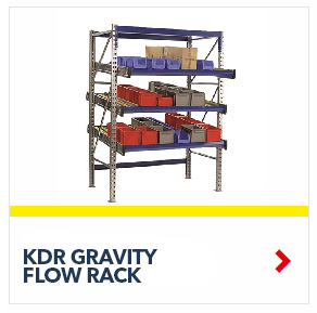KDR Gravity Flow Rack Shelving units for improved picking and storage efficiency, by SSI Schaefer