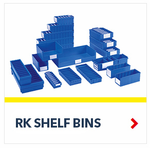 Plastic Shelf Bins for small parts storage, by SSI Schaefer