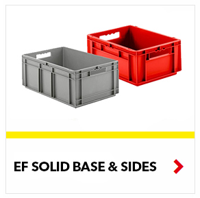 Schaefer Solid Euro Fix Containers for food, industrial, distribution processes, by SSI Schaefer
