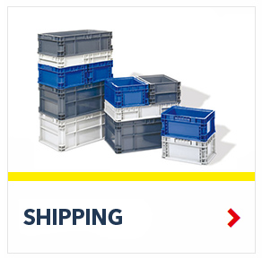 Stackable Shipping Returnable Containers for efficient transportation of goods, by SSI Schaefer
